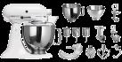 KitchenAid 1011.01.16 KSM 150 - Küchenmaschine - 300 Watt - Umdrehungen pro Minute : 40-225 - Weiss