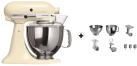 KitchenAid 1011.01.16 KSM 150 - Küchenmaschine - 300 Watt - Umdrehungen pro Minute : 40-225 - Creme