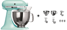 KitchenAid 1011.01.16 KSM 150 - Küchenmaschine - 300 Watt - Umdrehungen pro Minute : 40-225 - Eisblau