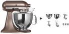 KitchenAid 1011.01.16 KSM 150 - Küchenmaschine - 300 Watt - Umdrehungen pro Minute : 40-225 - Macadamia