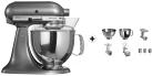 KitchenAid 1011.01.16 KSM 150 - Küchenmaschine - 300 Watt - Umdrehungen pro Minute : 40-225 - Medaillon silber