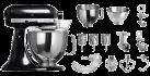 KitchenAid 1011.01.16 KSM 150 - Küchenmaschine - 300 Watt - Umdrehungen pro Minute : 40-225 - Schwarz
