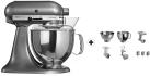 KitchenAid 1011.01.16 KSM 150 - Küchenmaschine - 300 Watt - Umdrehungen pro Minute : 40-225 - Chrome matt