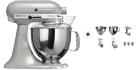 KitchenAid 1011.01.16 KSM 150 - Küchenmaschine - 300 Watt - Umdrehungen pro Minute : 40-225 - Chrome glanz