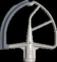 KitchenAid 5KFE7T - Flexi-Rührer - Mit integriertem Schaber - Grau
