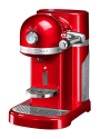 KitchenAid ARTISAN Machine à café Nespresso - 1160 Watts - Réservoir à eau amovible de 1,4 l - rouge