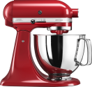 KitchenAid ARTISAN KSM125 + Glace-Set - Küchenmaschine - 300 W - Rot