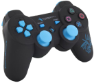 DRAGON WAR Dragon Shock Bluetooth PS3 Controller, nero/blu