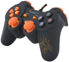DRAGON WAR Dragon Shock Wired PC Controller, schwarz/orange