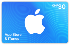 iTunes-Geschenkkarte CHF 30.-