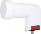 inverto 3138 Red Extend - Single LNB Long Neck - Blanc/Rouge