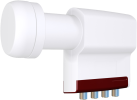 inverto 3304 Red Extend - Quad LNB Long Neck - bianco/rosso