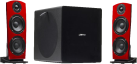 jamo DS7 Digital - 2.1 Soundsystem - Bluetooth - Rot/Schwarz