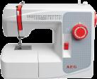AEG 2100 - Nähmaschine - 21 Nähprogramme - 50 Watt + 15 Watt Nählicht - Weiss/Rot