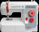 AEG 3200 - Nähmaschine - 36 Nähprogramme - 50 Watt Motor / 15 Watt Lampe - Weiss/Rot
