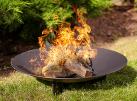 NOMLILO Tempe - Ciotola di fuoco - Diametro: 60 cm - Nero
