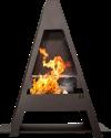 NOMLILO Pasadena S - Gartenkamin - Das verwendete Stahlblech ist mit einer Pulverbeschichtung versehen und bis zu 650 °C feuerfest - Schwarz