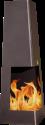 NOMLILO Saratoga S - Caminetto giardino - Fino a 600 ° C a prova di fuoco - Nero