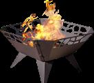 NOMLILO Fresno - Feuerschale - Bis zu 650 °C feuerfest - Schwarz