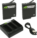 Wasabi Power KIT - Caricatore con batteria - Per GoPro Hero5 - Nero