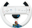 Power A Mario Kart 8 Racing Wheel for Wii U, Bianco