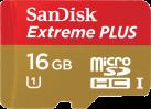 SanDisk Extreme PLUS microSDHC UHS-I, 16 GB