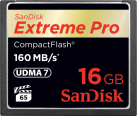 SanDisk Extreme Pro CompactFlash, 16 GB