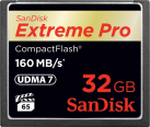 SanDisk Extreme Pro CompactFlash, 32 GB