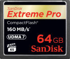 SanDisk Extreme Pro CompactFlash, 64 GB