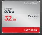 SanDisk Ultra CompactFlash - Carte mémoire - 32 Go - noir / gris