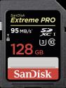 SanDisk Extreme PRO SDXC UHS-I - Carte mémoire - Capacité 128 Go - Noir