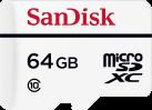 SanDisk High Endurance microSD - Scheda di memoria - 64 GB - bianco