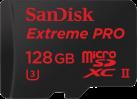 SanDisk Extreme PRO microSDXC UHS-II - Speicherkarte - 128 GB - Schwarz / Rot