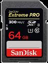 SanDisk ExtremePro 300MB/s SDHC 64GB U3 - Scheda di memoria - 64 GB - Nero