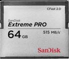 Sandisk CFast ExtremePro 525MB/s 64GB - Speicherkarte - 64 GB - Grau