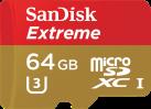 SanDisk Extreme microSD UHS-I - Speicherkarte - 64 GB - Gold / Rot