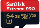 SanDisk Extreme PRO microSDXC - Speicherkarte - 64 GB - Schwarz