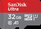 SANDISK Ultra microSDHC - Per smartphone - 32 GB - Grigio/Rosso