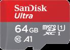 SanDisk Ultra microSDXC - Scheda di memoria flash - Velocità video: C10/U1/A1 - 64 GB