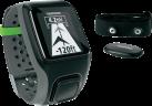 TomTom Multi-Sport GPS-Uhr + Brustgurt zur Herzfrequenzmessung, grau
