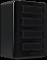 Lexar Professional Workflow HR1 - Lesegerät- und Laufwerk-Hub - 4 Anschlüssen - Schwarz