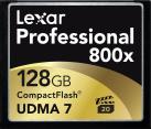 Lexar Professional 800x CompactFlash - Speicherkarte - Kapazität 128 GB - Schwarz