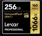 Lexar Professional 1066x CompactFlash - Speicherkarte - Kapazität 256 GB - Schwarz