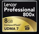 Lexar Professional 800x CompactFlash - Speicherkarte - Kapazität 8 GB - Schwarz