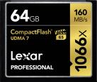 Lexar Professional 1066x CompactFlash - Speicherkarte - Kapazität 64 GB - Schwarz
