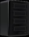 Lexar Professional Workflow HR2 - Lesegerät- und Laufwerk-Hub - 4 Anschlüssen - Schwarz