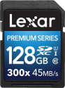 Lexar Premium Series 300x SDXC UHS-I - Speicherkarte - Kapazität 128 GB - Schwarz