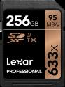 Lexar Professional 633x SDXC UHS-I - Carte mémoire - Capacité 256 Go - Noir