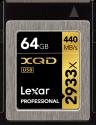 Lexar Professional 2933x XQD 2.0 - Speicherkarte - Kapazität 64 GB - Schwarz