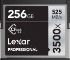 Lexar Professional 3500x CFast 2.0 - Speicherkarte - Kapazität 256 GB - Schwarz